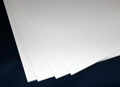 1 Hart PVC Kunststoffplatte weiss 300x200x2mm mit einseitiger Schutzfolie