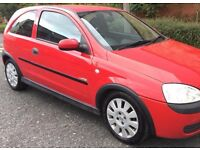 VAUXHALL CORSA 1.0 12V RED 2003 PETROL MANUAL FULL SERVICE NEW MOT with FULL SERVICE HISTROY