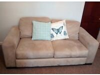 FREE - lovely suede sofa, fantastic condition