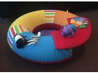 Flatable baby support ring