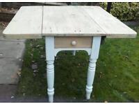 Victorian pine drop leaf table