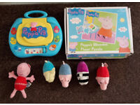 Peppa Pig Bundle - Soft Toys, Wooden Jigsaw and Computer