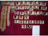 Vintage Slimblack 3D number plate letters and digits