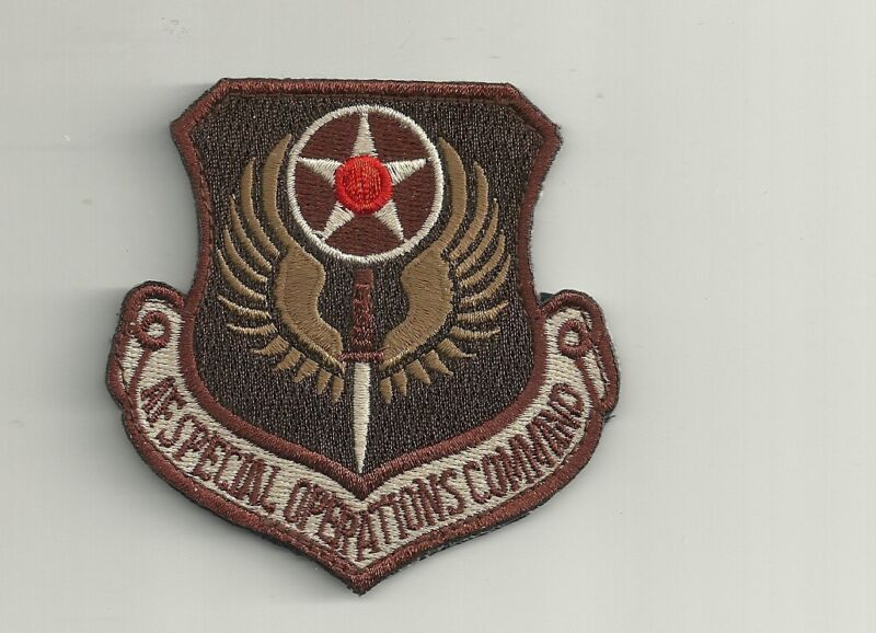 AFSOC AIR FORCE SPECIAL OPS COMMAND DESERT HOOK LOOP EMBROIDERED  PATCH