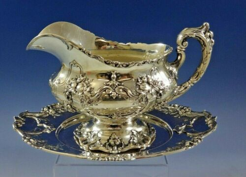 Francis I by Reed and Barton Sterling Silver Gravy Boat with Underplate (#0954)