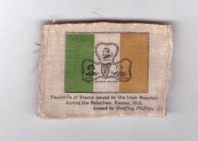 "1925 Godfrey Phillips Silk Tobacco 1916 Easter Rebellion Stamp 1 5/8"" x 2 1/""4"