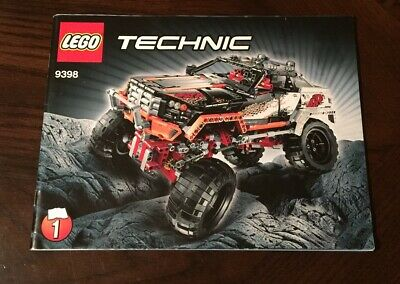 LEGO Technic 4x4 Crawler #9398 Truck Jeep Instruction Instructions Manual Book