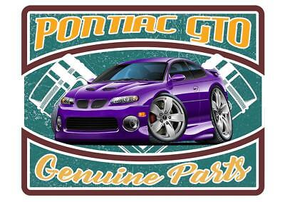 2004-06 Pontiac GTO GENUINE PARTS Garage Sign Wall Art Graphic Sticker Genuine Pontiac Parts