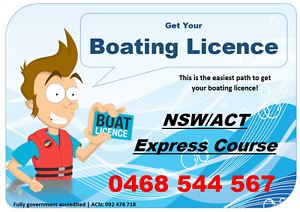 Sydney Boat Licence Course Lidcombe Auburn Area Preview