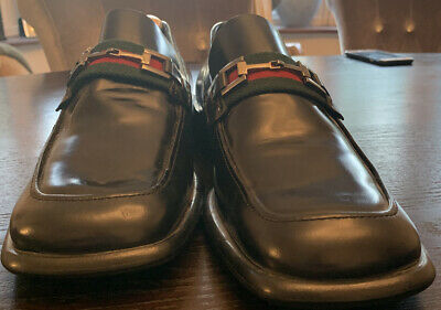 Gucci Leather Loafers Eu 44 Authentic Vintage
