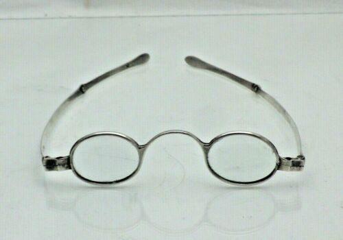 Georgian 1822 Pair Antique Solid Silver Spectacles Reading Glasses (1721/9/ALY)