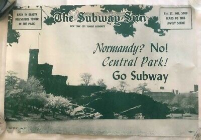 NY Subway Subway Sun Ad 24 No 2 Central Park Amelia Opdyke Jones, a.k.a.