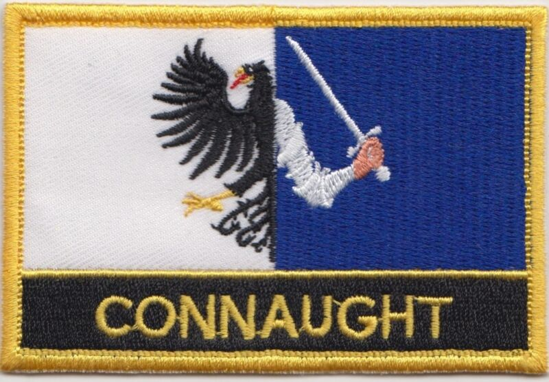 Connaught Province of Ireland Flag Embroidered Patch - Sew or Iron on