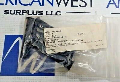 Amphenol 9779-513-6 Rubber Bushing Cable Clamp New Lot Of 4 In Bag