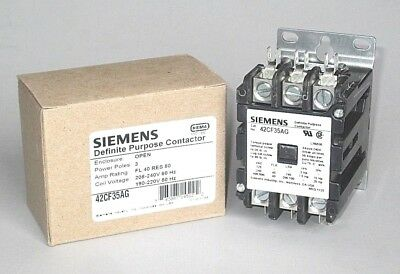 Free Priority Mail Siemens Contactor 40 Amp 3 Pole 208 240 V. Coil 42cf35ag