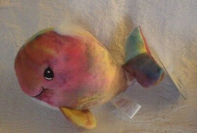 1998 Enesco Precious Moments Tender Tails Tye Dye Whale Watch Nwt