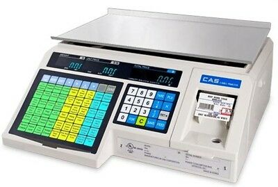 30 X 0.01 Lb Label Printing Scale Cas Grocery Store Market Legal For Trade