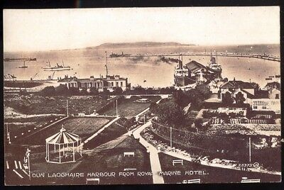 Panoramic View of Dun Laoghaire Harbour, County Dublin. 1924 Vintage Postcard