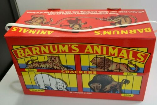 NABISCO Animal Crackers GIANT PROMOTIONAL BOX Advertising Circus Barnums 19x11x8