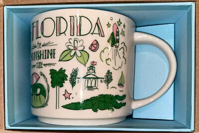 2018 Starbucks FLORIDA Been There Series Collection 14 Oz Ceramic Cup Mug. NEW!