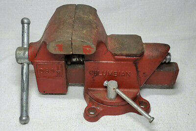 Vintage Columbian D63 12 Swivel Bench Mount 3 12 Vise Pipe Jaw Forming Anvil