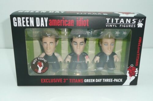 "Green Day Band Titans Vinyl Figures Set 3"" American Idiot Hot Topic Exclusive"