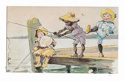Old Trade Card John Patton City Drug Store York PA Pattoniana Children Fishing - Kid City Stores