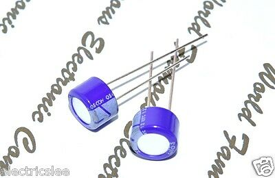 10pcs-sanyo 100uf 6.3v Osconos-con Radial Aluminum Solid Capacitors - 6sl100m