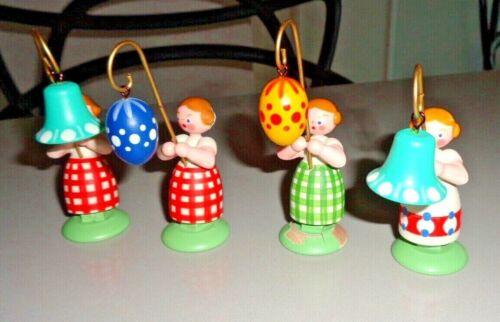 German Handmade Wood Easter Figures girl erzgebirgishche-holzkunst-tuebingen