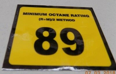 Gilbarco Veeder-root Advantage Dispenser Octane 89 Decal Wayne Tokheim