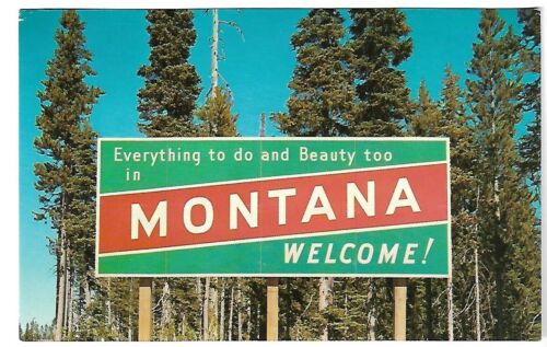 VTG Postcard - Everything to do and Beauty too in MONTANA - WELCOME!