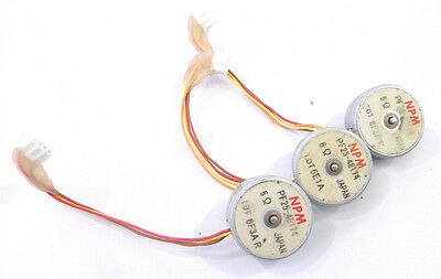 Npm Pf25-48174 Tin-can Stepper Motor Lot Of 3 Nnb