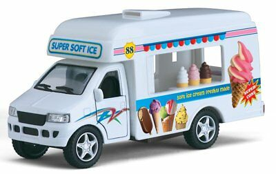 Kids Ice Cream Truck Metal Diecast Pull Back Drives Action Fun Car Toy - Ice Cream Truck Kids
