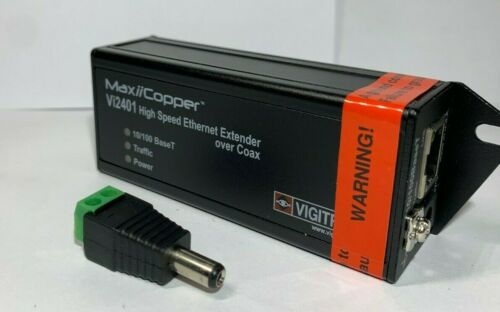 Vigitron VI2401 Single Port MaxiiCopper Ethernet Extender over Coax