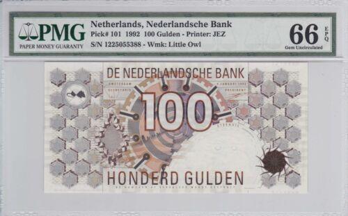 Netherlands 1992 100 Gulden P-101 PMG Gem Unc 66 EPQ