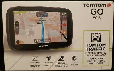 NEW TomTom GO 50S GPS Car LIFETIME 3D MAPS Traffic Set USA,CANADA,MEXICO 50-S