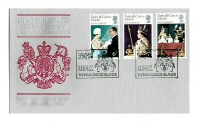 Turks & Caicos 1977 - Silver Jubilee, Queen Elizabeth II - First Day Cover - FDC