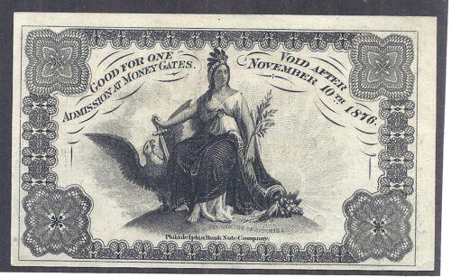 1876 US International Exhibition, Philadelphia, Package Ticket, Red#, 50c, UNC*