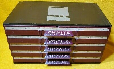Vintage Ohmite Little Devils 5 Drawer Storage Chest Loaded W Resistors