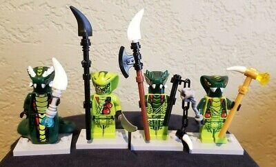Lego Ninjago Lot of 4 Venomari Tribe- Acidicus,Lizaru,Spitta,Lasha Minifig