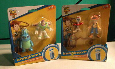 LOT 3 -Imaginext Disney Toy Story 4 2 SETS BUNNY & BUZZ & FORKY & WOODY NIP