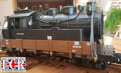 G SCALE 45mm GAUGE SCRAP LOCO BODY ON FLATBED RAILWAY TRAIN TRUCK GRAVEYARD for sale  Shipping to Ireland