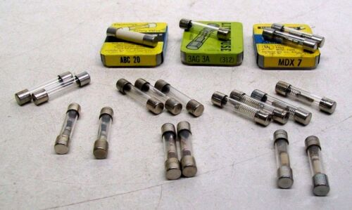 LOT OF 19 NEW BUSS LITTLE FUSE SPECIALTY FUSES LAB ANALYTICAL EQUIPMENT BM