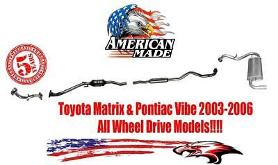 New Exhaust System for Toyota Matrix  Pontiac Vibe 2003 2006 All Wheel Drive