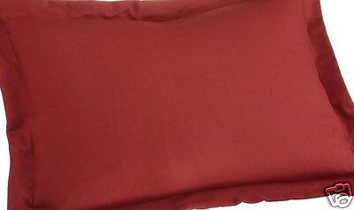 2 EURO or EUROPEAN   PILLOW SHAMS , RED  SET OF TWO,    ()