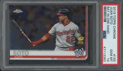 2019 Topps Chrome Bat In One Hand #155 Juan Soto RC Rookie Gem Mint PSA 10