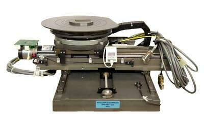 Motorized Xy Axis Rotary Vacuum Stage 4 Wafer Inspection Chuck Used 9011r