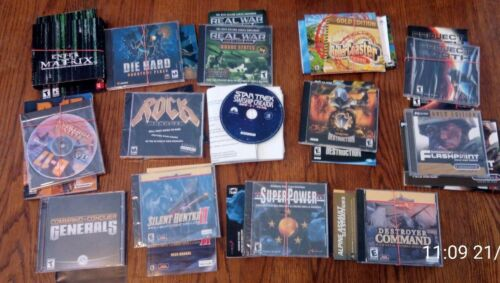 Computer Games - Vintage Windows Computer/PC Games w/ Manuals Lot of 15