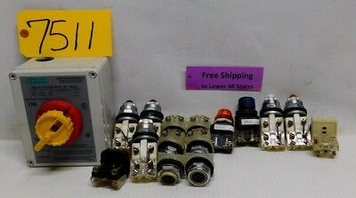 16 Pcs. 1- Bryant-tech-spec-664x33d-rotary-motor-controller 15 Misc Switches