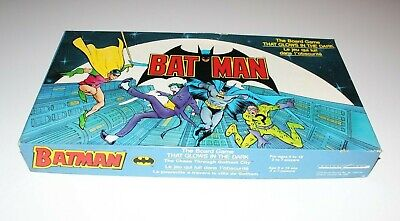 Batman Gotham city The Board Game That Glows in the Dark Vintage 1989 INCOMPLETE